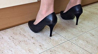 Foot, Heels, Spying, Spy cam, My wife