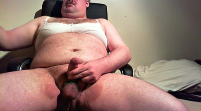 Fat gay, Pants, Bra, Fat guy, Panting, Jerk off