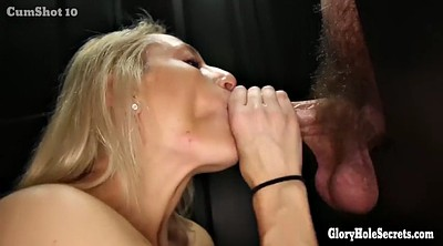 She, Gloryhole swallow, Glory hole swallow, Cum in throat, Amateur blonde
