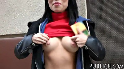 Public, Flashing cock, Boob flash