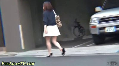 Japanese beauty, Japanese public, Japanese piss, High heels, High, Asian pissing