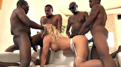 Anal gangbang, Beefy, Close-up blowjob, Blond, Gang bang, Gangbang black