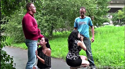 Pregnant, Public street, Pregnant gangbang, Group sex, Public gangbang, Pregnant sex