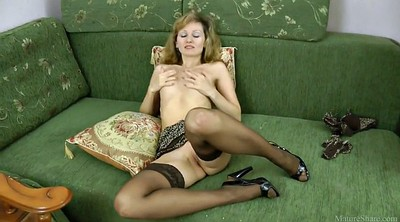 Stocking masturbation, Mature stockings