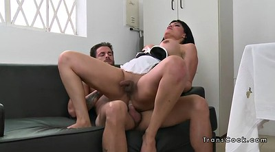 Maid, Shemale anal, Anal busty