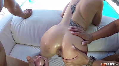 Throat, Spanish, Alexa blun, Gagged, Latina blowjob, Apolonia