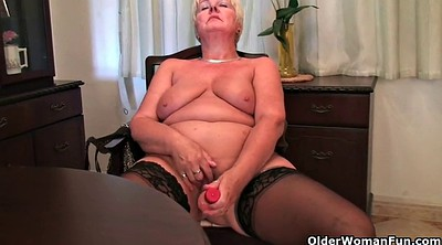 Mom, Granny solo, Short haired, Bbw mom