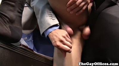 Muscled, Office anal, Cute boy, Anal office