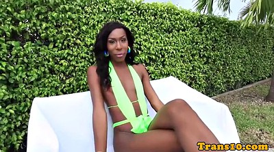 Tgirl, Tgirls, Outdoor masturbation, Black shemales, Poolside