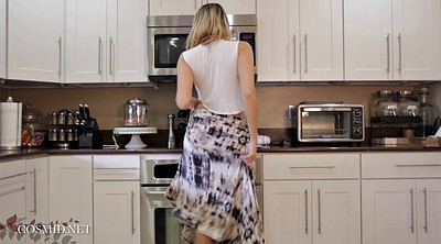 Beauty, Kitchen mom, Teen hd, Blonde mom, Mom play, Mom in kitchen