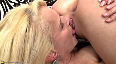 Mature lesbian, Milf young, Love, Lesbian old young