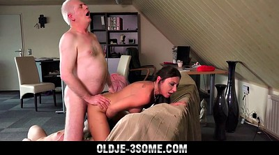 Granny, Grandpa, Granny group, Young girl, Sweet girl, Old sex