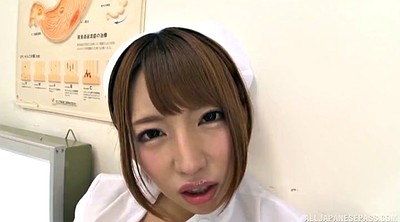 Nurse, Japanese handjob, Japanese nurse, Top