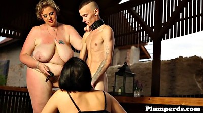 Domination, Plumper, Bbw threesome, Chubby lingerie