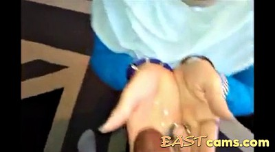 Handjob, Arab, Asian wife