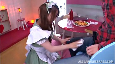 Maid, Asian handjob, Japanese maid, Cum on face, Asian maid, Maid amateur