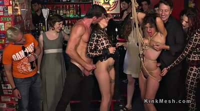 Bar, Bdsm orgy, Public bdsm