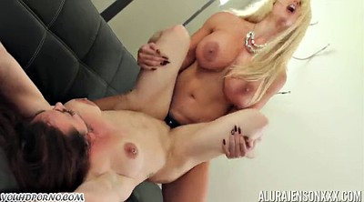 Mature lesbian, My mom, Big tits mom, Strap-on, Strap, Mom tits