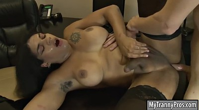 Shemale black, Busty office