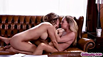 Pussy licking, Lesbian tribbing, Wet ass