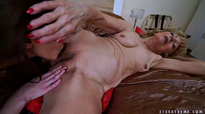 Share, Grannies, Share bed, Roses, Lesbian mature