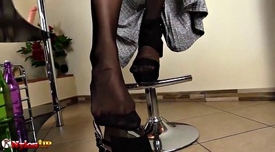 Footjob, Stocking foot, Stockings foot