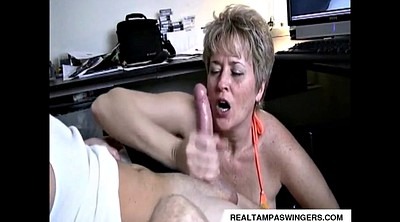 Handjob, Mature amateur, Caught masturbating