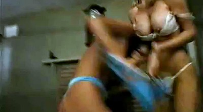 Vintage, Catfight, Topless