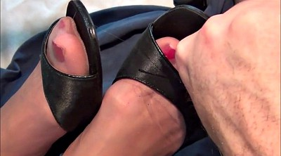 Nylon foot, Stocking foot, Nylon foot fetish, Nylon stocking, Stocking feet, Cum shoes