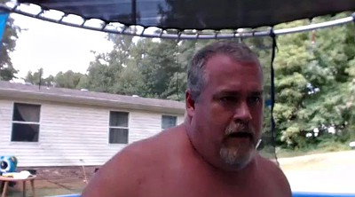 Naked, Gay dad, Pool, Gay daddy