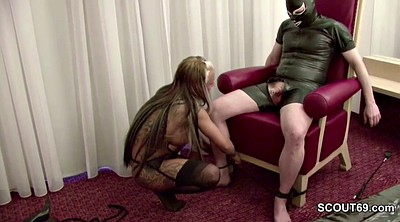 German femdom, Young man, German stocking