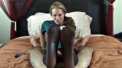 Nylon footjob, Nylon foot