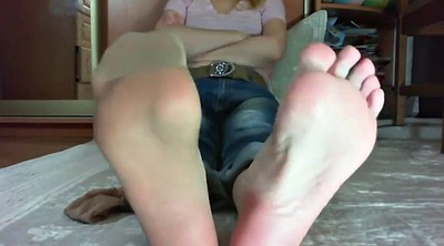 Pantyhose feet, Blonde feet