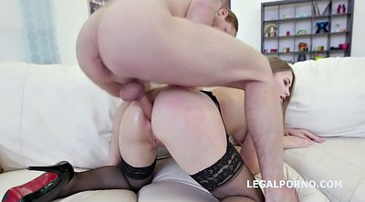 Teen anal, Anal threesome, Penetration