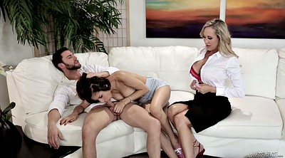 Babysitter threesome, Job, Big tit threesome