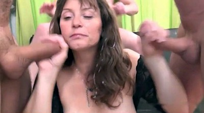 French gangbang, Mature gangbang, Mature french