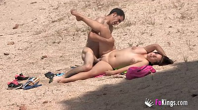 Chubby, Couple, Beach sex