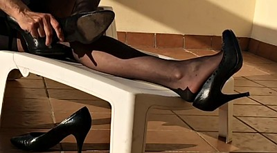 Foot fetish, Nylon foot, Nylons, Fetish nylon, Nylon heels, Black nylon