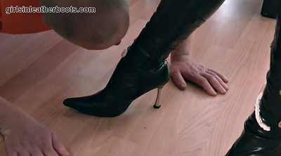 Latex, Boots, Boot, Foot slave, Leather fetish, Leather boots