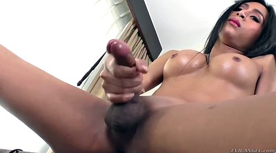 Shemale solo cumshots, Shemale dildo, Shemale solo