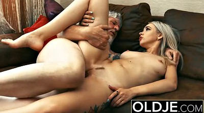 Old man, Young blowjob