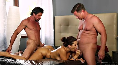 Mmf, Double blowjob, Keisha grey, Stepdad