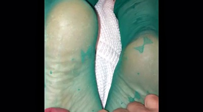 Nylon feet, Foot job, Stockings