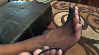 Nylon feet, Milf feet, Foot tease