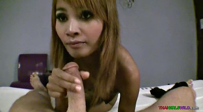 Time, Easy, Skinny asian, Thai pussy, Smile