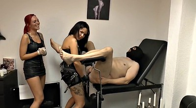 Slave, Femdom strapon, Punish, Huge strapon, Lady