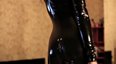 Latex, Boots, Catsuit, Pvc, High, Black girl
