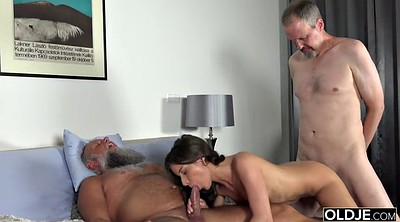 Grandpa, Granny group sex, Grandpa big cock