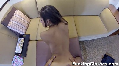 Teen glasses, Glasses, Latina doggy fucking brunette