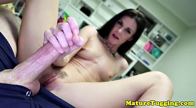 Milf jerk, Balls, Mature handjob, Ball sucking